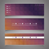 Web Design Elements - Abstract Header Designs — Stockvector