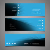 Web Design Elements - Abstract Blue Header Designs — Stock vektor