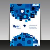 Flyer or Cover Design with Abstract Blue Pattern — Stok Vektör