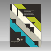Flyer or Cover Design with Colorful Abstract Pattern — Stock vektor