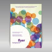 Flyer or Cover Design with Abstract Circles Pattern — Stok Vektör