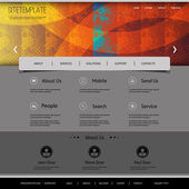 Website Template with Abstract Header Design - Colorful Grungy Pattern — Stock Vector