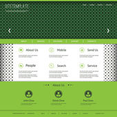 Website Template with Abstract Dotted Header Design — Stock Vector