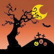 Halloween Card or Background — Stock Vector #50642425