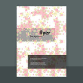 Flyer or Cover Design with Abstract Pattern — Stok Vektör