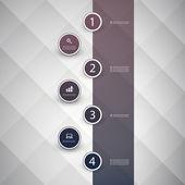 Infographic Concept - Flow Chart Design - Timeline — Stock Vector