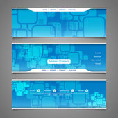 Web Design Elements - Header Designs with Squares Pattern — Stock Vector