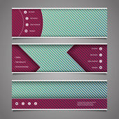 Website Design Elements - Header Designs with Abstract Stripes Pattern — Vetorial Stock