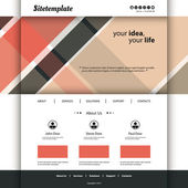 Website Template with Abstract Retro Styled Header — Stock Vector