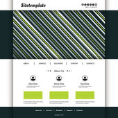 Website Template with Striped Header — Stock Vector