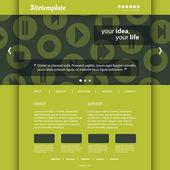 网站被设计成圆形的媒体播放器控件图标模式 — 图库矢量图片
