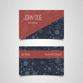 Business Card Template with Abstract Circles Design — Stockvektor