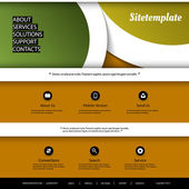 Website Template with Abstract Header Design - Curves — Stock Vector