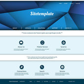 Website Template with Abstract Header Design — Stockvektor