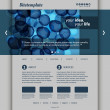 Website Template with Abstract Header Design - Bubbles and Rings — Stock Vector #51478591