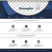 Website Template with Abstract Pattern Design and Place for Your Photo — Stock Vector