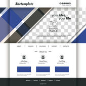 Website Template with Abstract Pattern and Place for Your Photo — Stock Vector