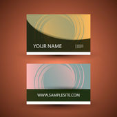 Business Card Template with Twisted Pattern — Stock Vector