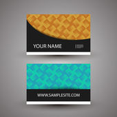 Business Card Template with Colorful Abstract Pattern — Stock Vector