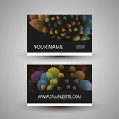 Business Card Template with Abstract Spheres Pattern — Stock Vector