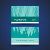 Business Card Template with Abstract Blue Background — Stock Vector