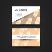Business Card Template with Abstract Band-Aids — Stock Vector