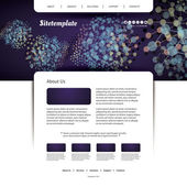 Webové stránky šablony s barevné abstraktní sítě, záhlaví design — Stock vektor