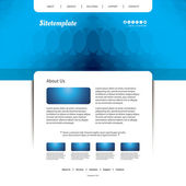Website sjabloon met abstracte Header Design — Stockvector