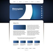 Website Template with Abstract Header Design — Stock Vector