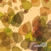 カラフルな秋の葉の背景 — ストックベクタ