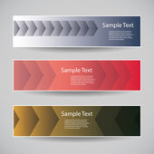 Banner or Header Designs with Abstract Patterns - Arrows — Stockvector