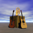 Guitar and music — Stock Photo