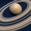 Stock Photo: Planet saturn