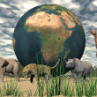 Africa and animals — Stock Photo