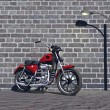Stock Photo: Motorbike red