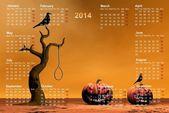 Kalendarz 2014 — Zdjęcie stockowe