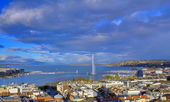 General view of geneva the city — Stock Photo
