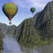 Two hot-air balloons — Stock Photo #40460923