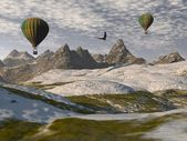 Two hot-air balloons — Stock Photo