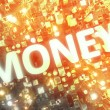 MONEY. Word collage inside busines city center - Stock Photo