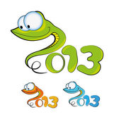 Cartoon illustration of a snakes (symbol 2013) — Stock Photo