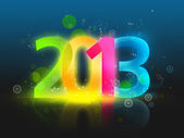 Happy New Year - 2013 colorful background — Stock Photo