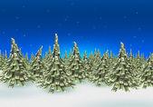 Skogen av dollar sedlar gjorde som julgran — Stockfoto
