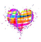 St. Valentin's rainbow heart — Stockfoto