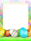 Varicoloured frame of Easter eggs — Stock Photo