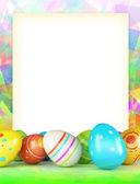 Varicoloured frame of Easter eggs — Stock Photo