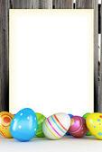 Frame of Easter eggs — Stock Photo