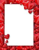バレンタインデーの背景フレームの心 — ストック写真