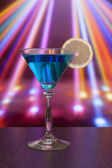 Blue cocktail in martini glass — Stock Photo