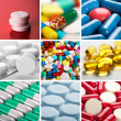 Collage of pills — Stock Photo